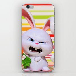hare, evil, snowball, film character, pets, funny, cute, animal, toys, children, fun, iPhone Skin