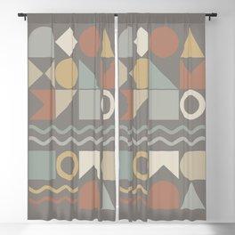 Geometric Shapes 02 Blackout Curtain