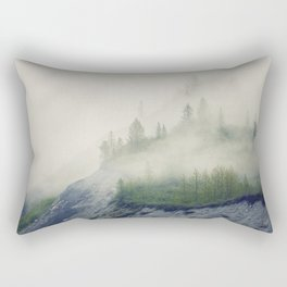 Trees and Fog Rectangular Pillow