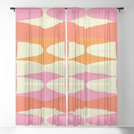 Zaha Sixties Sheer Curtain