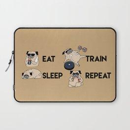 Eat Sleep Train Repeat Laptop Sleeve