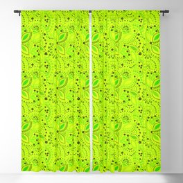Green neon  , placer beads #neon #bright Blackout Curtain