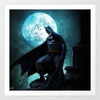 bat man Art Prints featuring BAT man by Electra