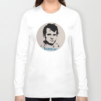 kerouac Long Sleeve T-shirts featuring Jack Kerouac Record Painting by All Surfaces Design