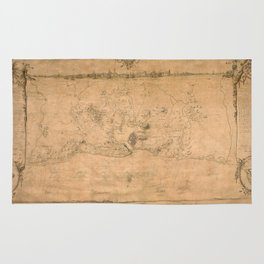 Map of Havana 1762 Rug
