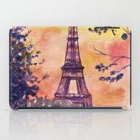 paris iPad Cases featuring Paris by Anna Shell