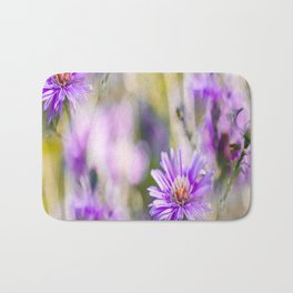Summer dream - purple flowers - happy and colorful mood Bath Mat