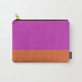 Fuschia Pink & Orange Color Block  Carry-All Pouch