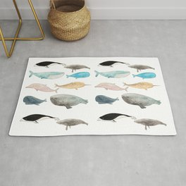 Group of whales Rug