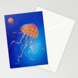 Jellyfish, Oil painting by Faye Stationery Cards