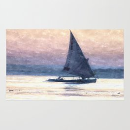 Felucca Water Colour Rug