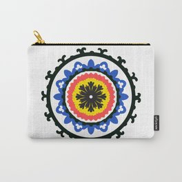 Bold and bright beauty of suzani patterns ver.9 Carry-All Pouch