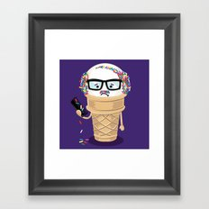 Ice Cream Coneover Framed Art Print