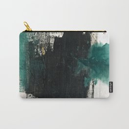 Empire: a minimal, abstract piece in teal and midnight blue by Alyssa Hamilton Art Carry-All Pouch