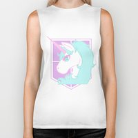 military Biker Tanks featuring Pastel Military Police by CLUB GALAXY