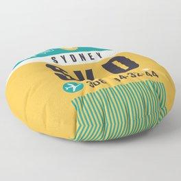 Baggage Tag A - SYD Sydney Australia Floor Pillow