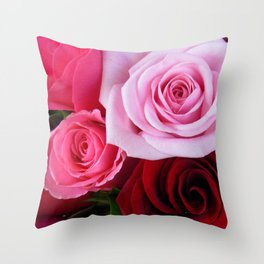 Roses in Paris Throw Pillow