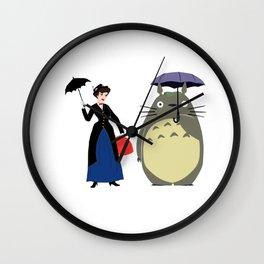 Mary Poppin and cat umbrela Wall Clock