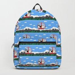 Gondola corgis telluride ski slopes custom dog Backpack
