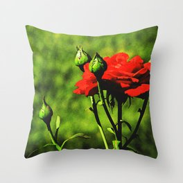A Kiss from a Rose Throw Pillow