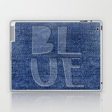 Blue Jeans denim typography Laptop & iPad Skin