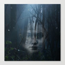 Portrait in the forest Canvas Print