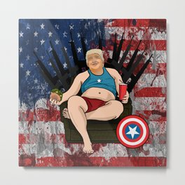 Captain Murica Metal Print