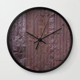 Corrugated Wall Wall Clock