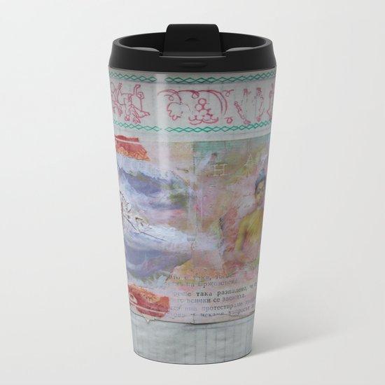 Buddha Collage - JUSTART (c) Metal Travel Mug