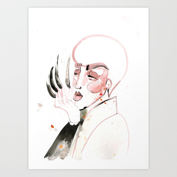 Long Nails in the House of Velour Art Print