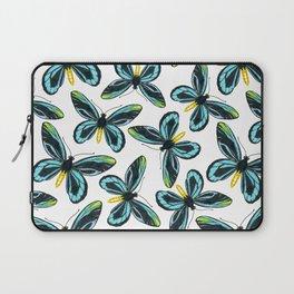 Queen Alexandra' s birdwing butterfly pattern design Laptop Sleeve