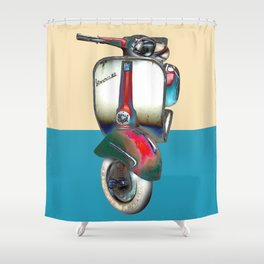 Moped Shower Curtain