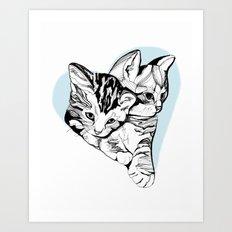 Kitten Love Art Print