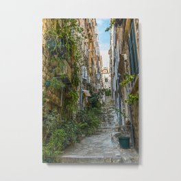 Stairs of Dubrovnik - Croatia Metal Print
