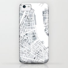 Map Manhattan Gray NYC Slim Case iPhone 5c