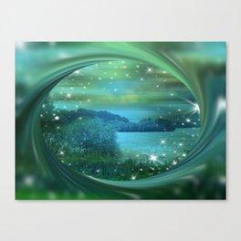 Starlit Lake. Canvas Print