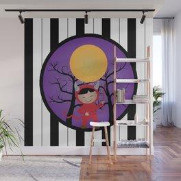Kid in devil costume Wall Mural
