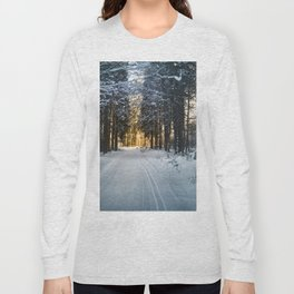 snowy forest Long Sleeve T-shirt