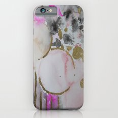 Spots or Dots Pink Abstract Painting Slim Case iPhone 6s