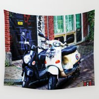 amsterdam Wall Tapestries featuring Amsterdam by Zura