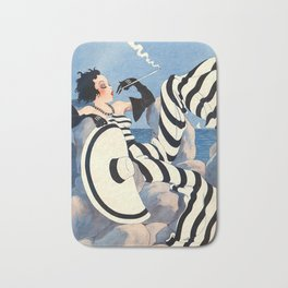 French Art Deco Woman Bath Mat