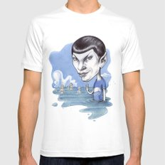 spock MEDIUM Mens Fitted Tee White