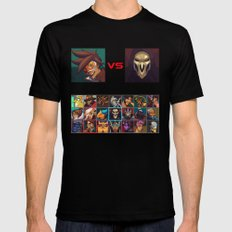 Select your Character! MEDIUM Black Mens Fitted Tee