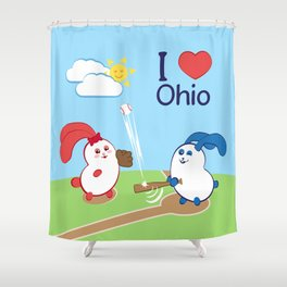 Ernest and Coraline | I love Ohio Shower Curtain