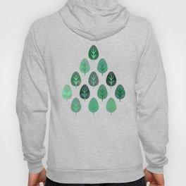 Watercolor Forest Pattern #9 Hoody