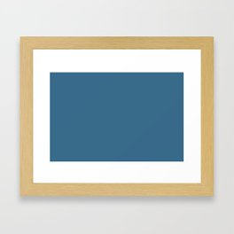 Pratt and Lambert 2019 Monsoon Blue 25-14 Solid Color Framed Art Print