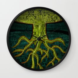 Tree Town - ROOTS Wall Clock