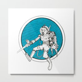 Cosmic Warrior Metal Print