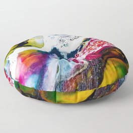 Abstracts in Color No 3, 2019 Floor Pillow