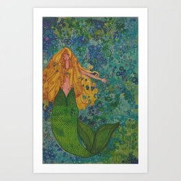 Mermaid Chill Art Print